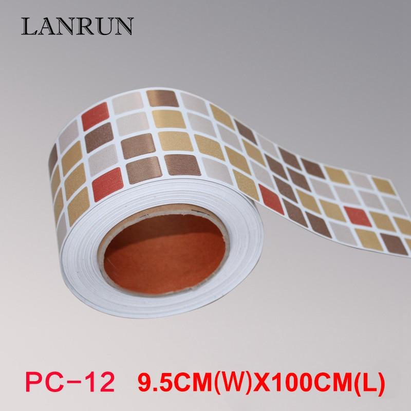 5M Waist Line Wall Sticker Köksvrist Linje Lim Toalett Badrum - Heminredning - Foto 2