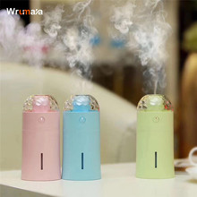 Wrumava  7 Colorful USB Projector Night light LED desktop Lamp Humidifier Air Diffuser Purifier Home Decor for car room Baby kid