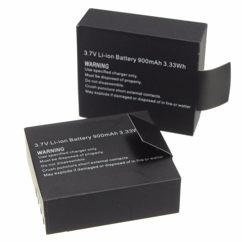 2pcs/set Battery for SJCAM SJ 4000 5000 SJ4000 SJ5000 SJ6000 Camera Sport Camera DV Accessories 3.7V 900mAh