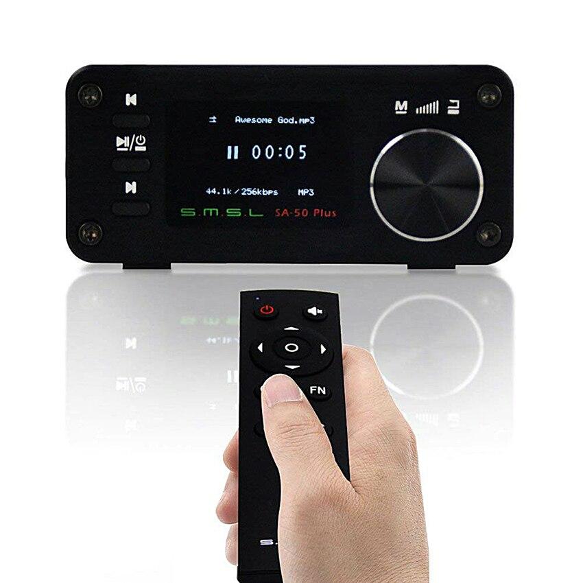 SMSL SA-50 Plus Audio Amplifier TAS5766M 2.1 AUX Hifi Digital Amplifiers USB Mini Portable Home Power Amplifier