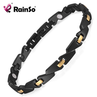 Rainso Stainless Steel Women S Magnetic Health Energy Bio Bracelets Bangles Blood Pressure In Jewelry For
