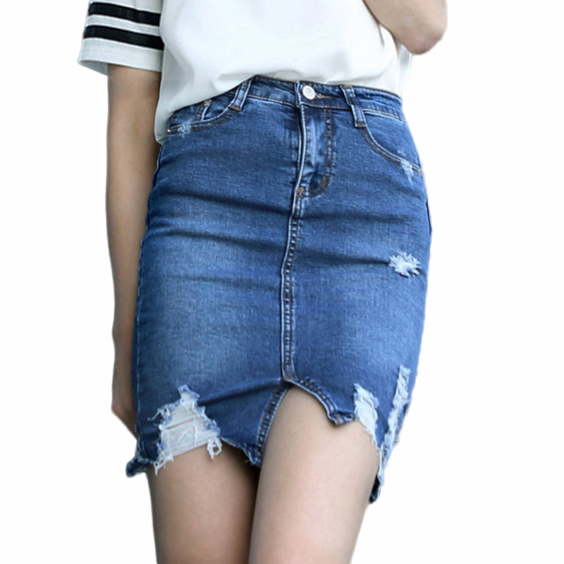 sale destructed denim skirts tight mini