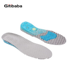 Spring Silicone Shock Absorption Sports Insole Foot pain Height Increasing insole 2 5CM For Ankle