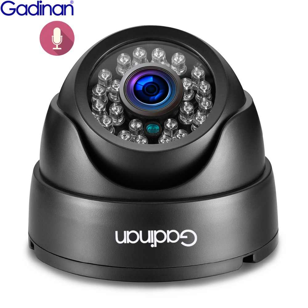 Gadinan аудио вход 3MP 2304x1296 2MP 1080P IP камера 2 8 мм широкий обзор Пикап микрофон ONVIF P2P