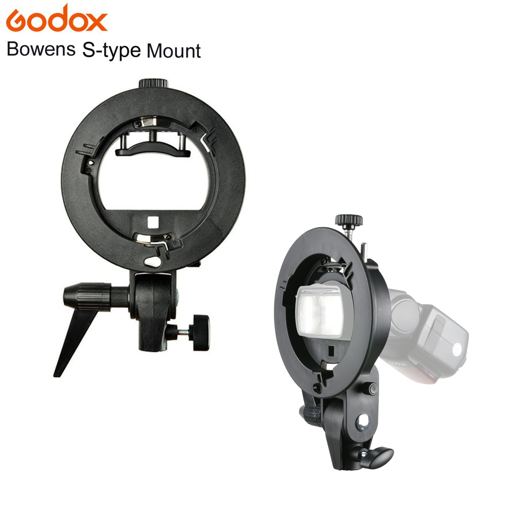 Godox S-Type Flash Bracket Bowens S Mount Holder Universal Type for Speedlite Flash Snoot Softbox Beauty Dish Honeycomb Umbrella