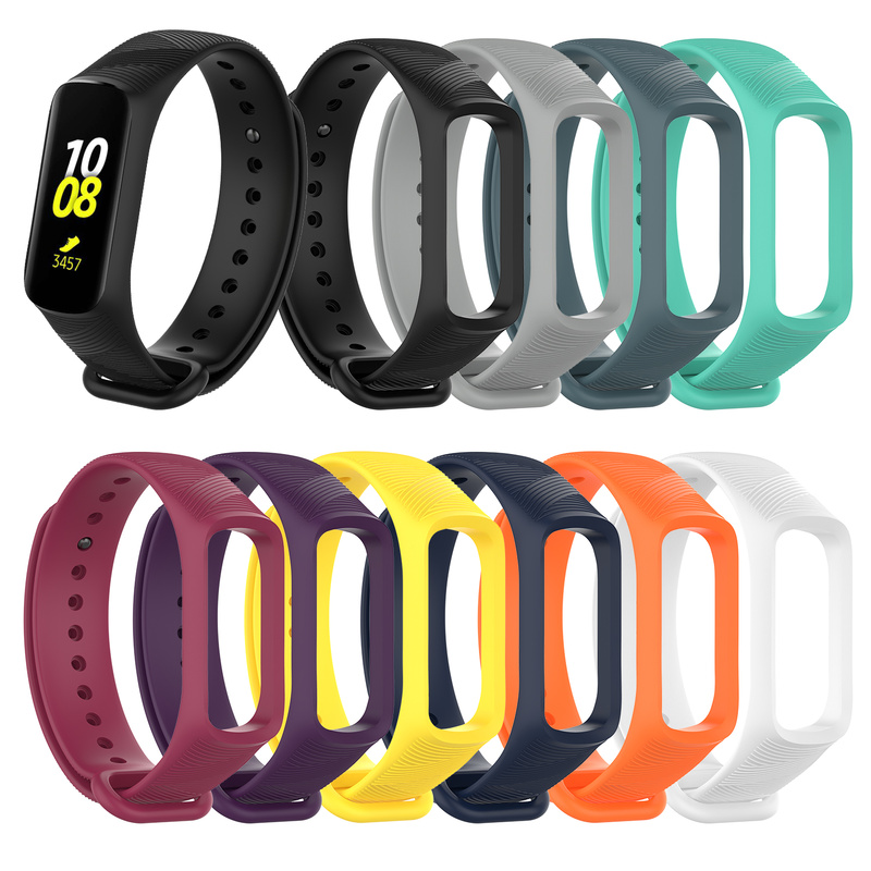 Wristband Belt Smart-Bracelet-Accessories Colorful Silicone Fit-E/r375 Galaxy Samsung