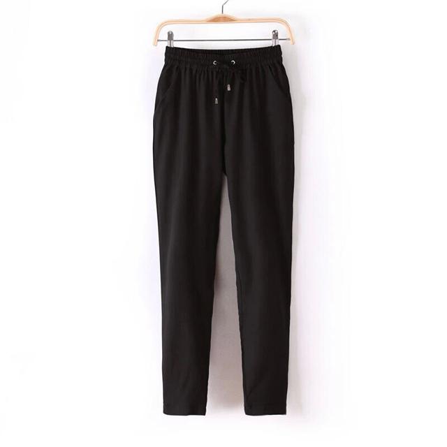 Marca de verano de cuerpo entero del Harem pantalones breve lindo de la gasa del cordón cintura de la señora del arco iris del caramelo de Color sólido pantalones femeninos