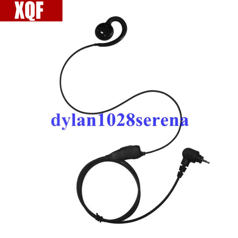 XQF C Shape Ear Hook Earphone Headset PTT For Motorola SL7550 SL4000 SL1K MotoTRBO Two Way Radio