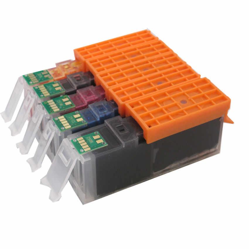 Untuk CANON 470 471 PGBK PGI-470 CLI-471 tinta kompatibel cartridge tinta penuh Untuk canon PIXMA MG6840 MG5740 TS5040 TS6040 printer