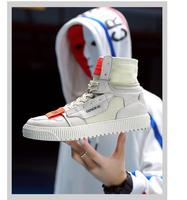 2019 Men's fashion casual running shoes new personality men's high top shoes youth canvas hip hop sports shoes