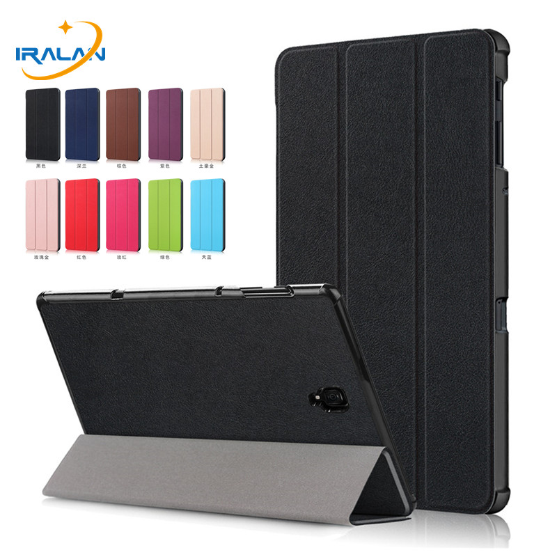 2018 New Ultra Slim Magnet Smart Case For Samsung Galaxy Tab A 10.5 T590 T595 T597 SM-T590 SM-T595 Tablet Stand Cover+film+pen 2014 for samsung galaxy note 8 0 n5100 n5110 book cover ultra slim thin business smart pu leather stand folding case