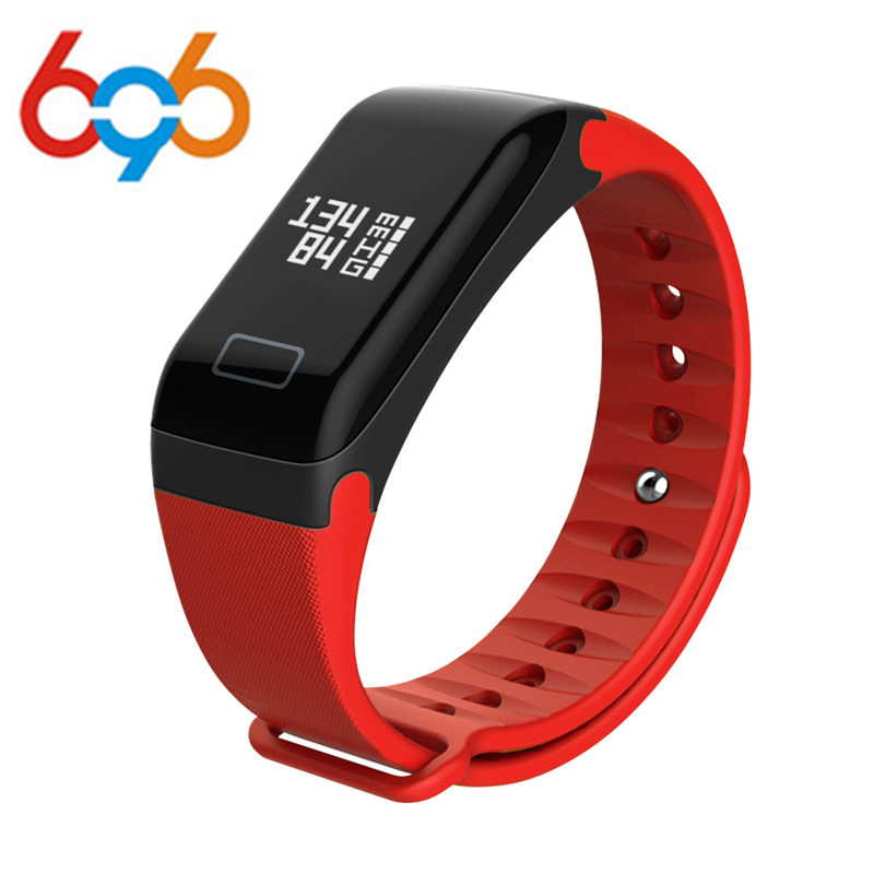 696 Fashion Fitness Bracelet Tracker Wristband Heart Rate Monitor F1 Smart Bracelet Blood Pressure With Pedometer Bracelet