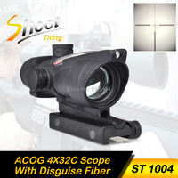 ST 1004 Shoot Thing Reddot Optics Riflescope ACOG 4X32 Disguise Fiber Scope 20mm For Airsoft Gun