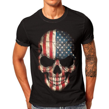 Men Short sleeve Skull Print t-shirt