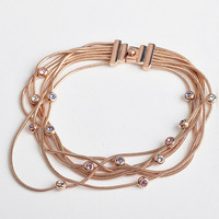 New Arrival   Austrian Crystal Fashion Multilayer Chain Bracelet for Women Fashion Jewelry