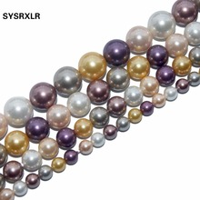 Free Transport Pearl 4 6 8 10 12 MM Spacer Beads Necklace Natural For The Do It Yourself Bracelat Jewelry Making Strand