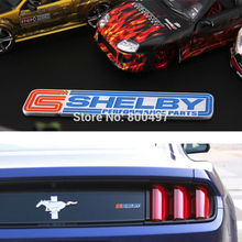 Newest 3D Aluminium Alloy Car Trunk Emblem For Mustang GT Shelby Car Accessories Adhesive Car Logo Car Styling Badge