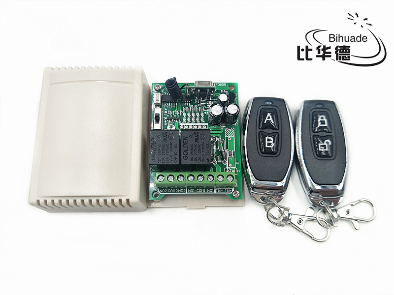 US $3 99 |433Mhz Universal Wireless Remote Control Switch AC 12V 220V 2CH  Relay Receiver Module and 5pcs RF 433 Mhz Remote Controls-in Remote  Controls