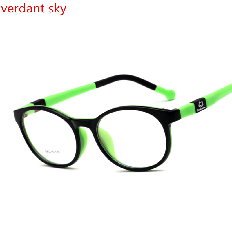Flexible Silicone Student Glasses Frame Children Myopia Prescription Eyeglasses Optical Kids Spectacle Frame For Baby Boys&Girls