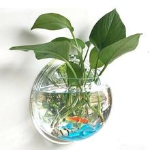 Pot Plant Wall Hanging Fish Bowl Aquarium Tank Aquatic Pet S