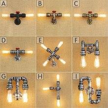 Aplique rústico Industrial de estilo Edison E27, lámpara de pared, accesorio de montaje