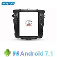 AUTOJIAPIN 9,7 дюймов вертикальный экран Android 7,1 четырехъядерный автомобильный мультимедийный плеер gps Navi для Toyota COROLLA 2009 2018