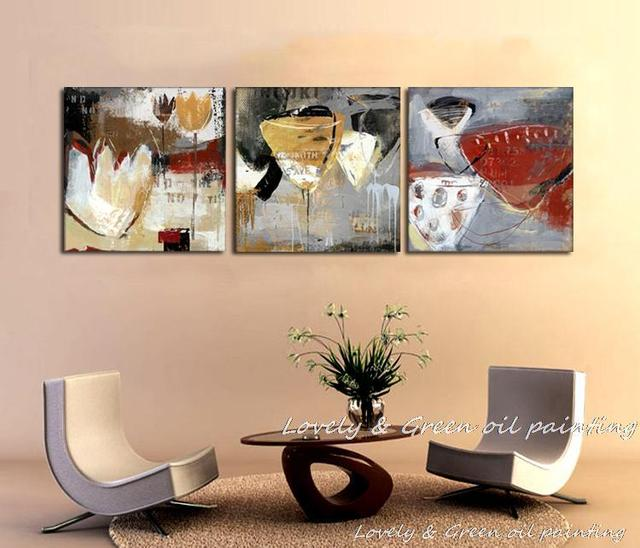 Free Shipping Wall Art High Quality Abstract Paintings Still Life Abstract  Canvas Art Paintings Dining Room
