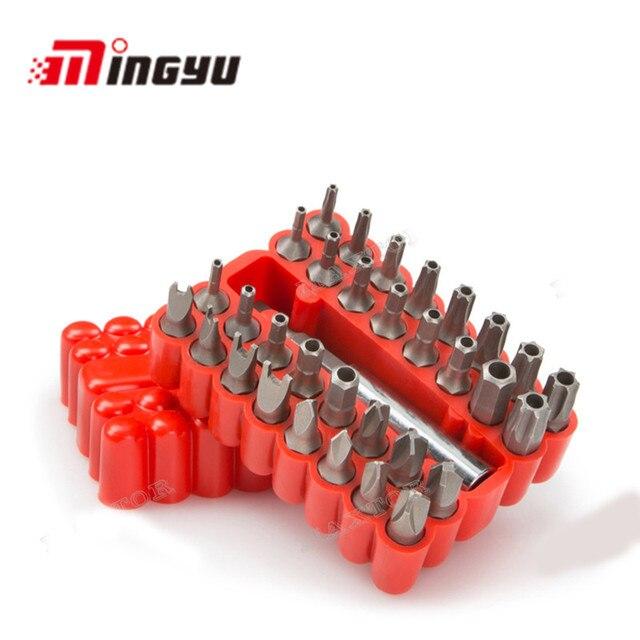 33PCS Torx Bit set Security Tamper Proof Bit Set professional hand tools set with high quality Material Repair Tool