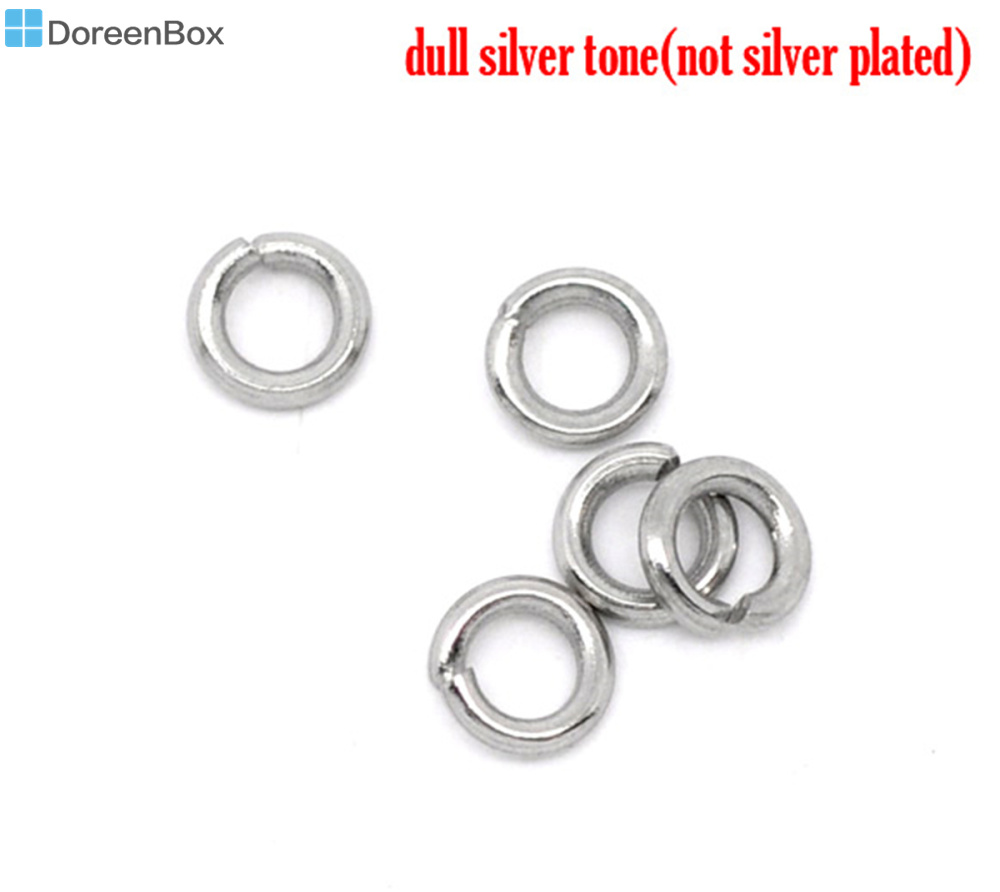 50PCs Silver Tone Stainless Steel Spacer Beads 5mm 1//4/""