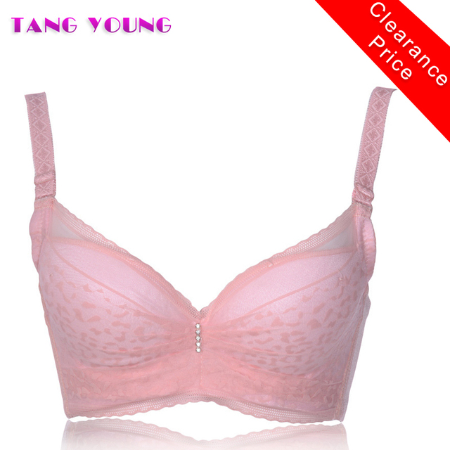 8deb6bf1ba Women Sexy Underwire Padded Up 3D push up 3 4 cup bra seamless diamond lace  cotton sleeping bra beautiful lingerie TANG YOUNG