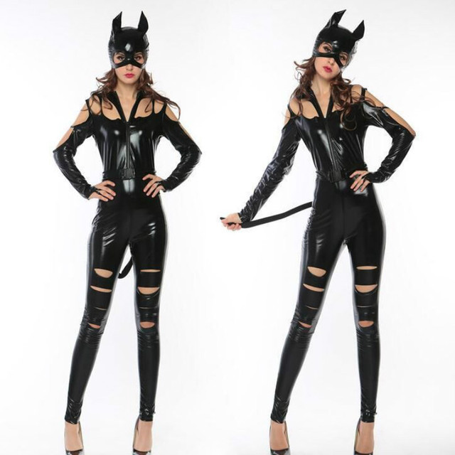 CFYH 2018 New Sexy Adult Girl Catwoman Costume Halloween Cosplay Lady Outfit  sc 1 st  AliExpress.com & CFYH 2018 New Sexy Adult Girl Catwoman Costume Halloween Cosplay ...
