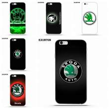 Logo Skoda Original souple pour Apple iPhone 4 4 S 5 5C SE 6 6 S 7 8 Plus X pour Apple iPhone 4 4 S 5 5C SE 6 6 S 7 8 Plus X(China)