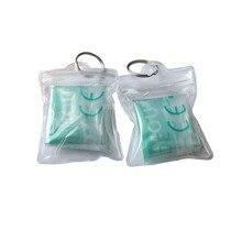 500 шт/партия маска для искусственного дыхания при реанимации мини защитный экран CPR рот в рот аптечка с прозрачным зеленым мешком инструмент для здравоохранения