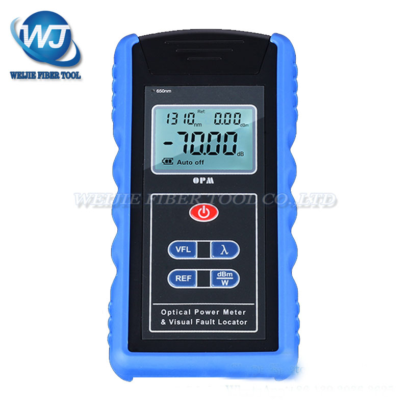 OPM Optical Power Meter & Visual Fault Locator Fiber Optic Tool -70dBm~+10dBm 10 mW VFLOPM Optical Power Meter & Visual Fault Locator Fiber Optic Tool -70dBm~+10dBm 10 mW VFL