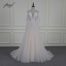 Fmogl Vestido De Noiva Sexy Illusion Beach Wedding Dresses