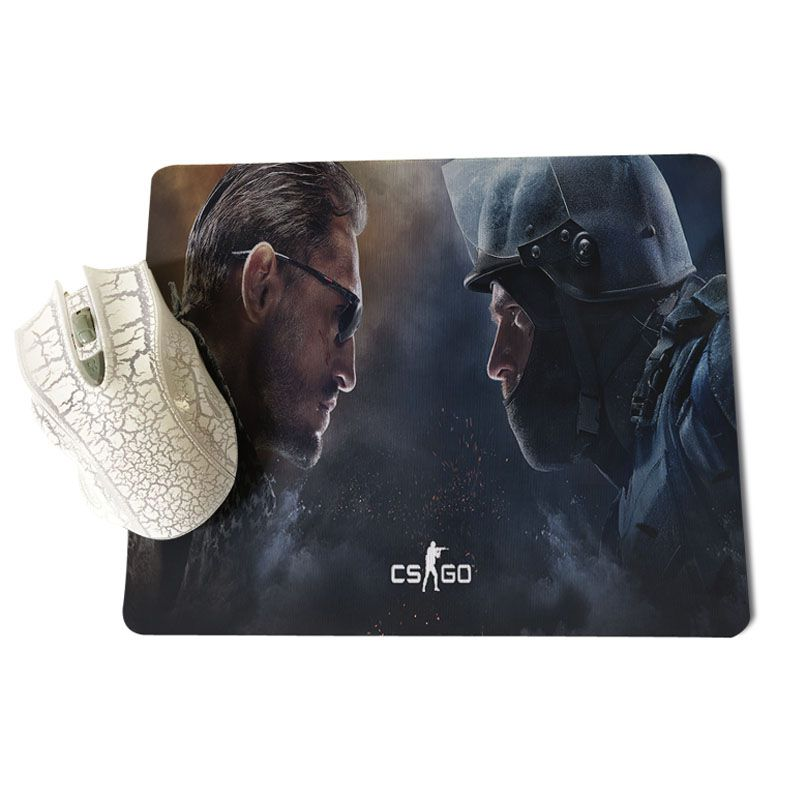 Babaite Non Slip PC CS GO Black and White Wallpaper Silicone Pad to Mouse Game Size for 18x22cm 25x29cm Rubber Mousemats