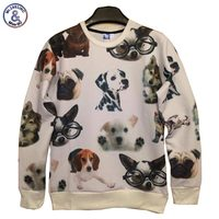 2017 Mr 1991INC Dog Print 3d Sweatshirts Men Women S 3d Hoodies Fashion Thin Style Casual