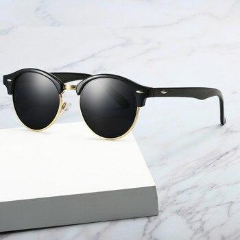 item image - VWKTUUN Polarized Sunglasses Men Half Frame Round Sun Glasses For Women Driving Goggles UV400 Shades New Brand Designer Glasses
