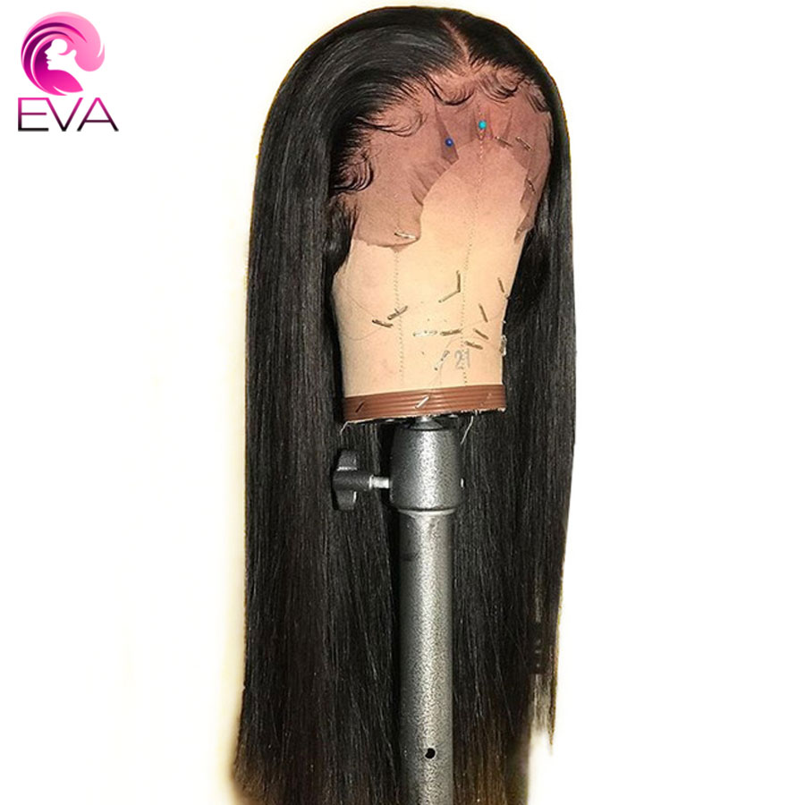 Eva Straight Lace Front Human Hair Wigs With Baby Hair Full End Pre Plucked Lace Front