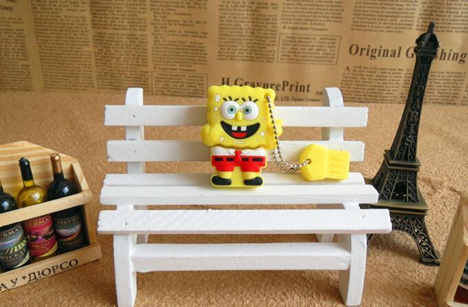 SpongeBob and patrick star USB Flash Drive Memory Card Stick Thumb/Car key/Pendrive U Disk/creative Gift 2GB 4GB 8GB 16GB 32GB
