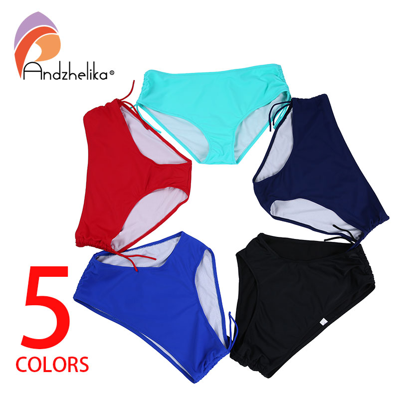 Andzhelika 2018 Women bikini Bottoms Plus Size XL-8XL Sport Adjustable Briefs Bathing Suit Panties Shorts Underwear Swimsuit