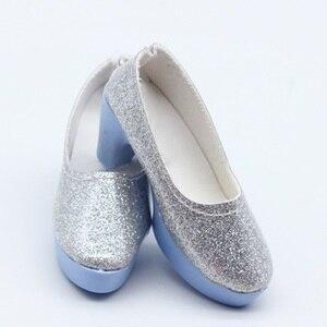 Image 2 - 1 para 1/4 BJD pu skórzane buty dla lalek dla małych 16 cali Sharon odzież dla lalek akcesoria zabawki 6.3*2.5cm