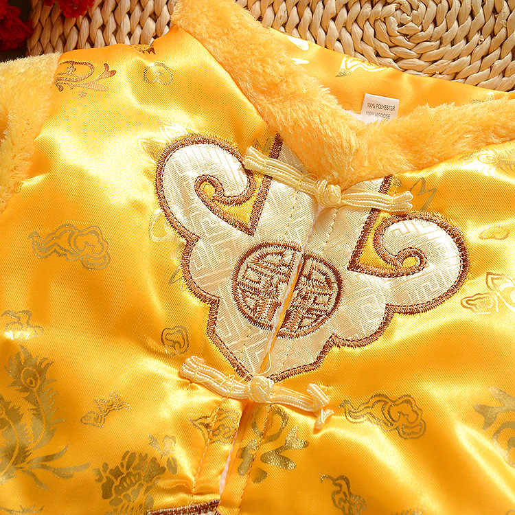 f8b27cdf6 HI BLOOM Cotton Chinese Traditional New Year Clothes for 3-18 Months Baby  Boy Winter Clothing Embroidery Tang Suit Thick Costume