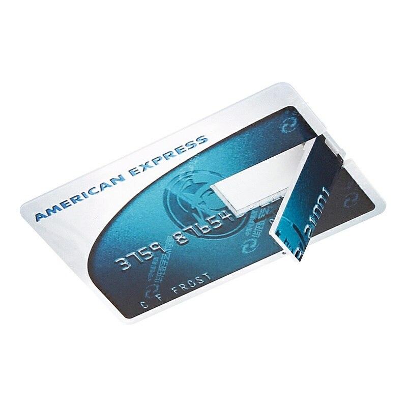 waterproof Super Slim Credit Card usb flash drive 2.0 pendrive 128GB 64GB 16GB 8GB 4GB HSBC Master Card pen drive 32GB Free logo-in USB Flash Drives from Computer & Office