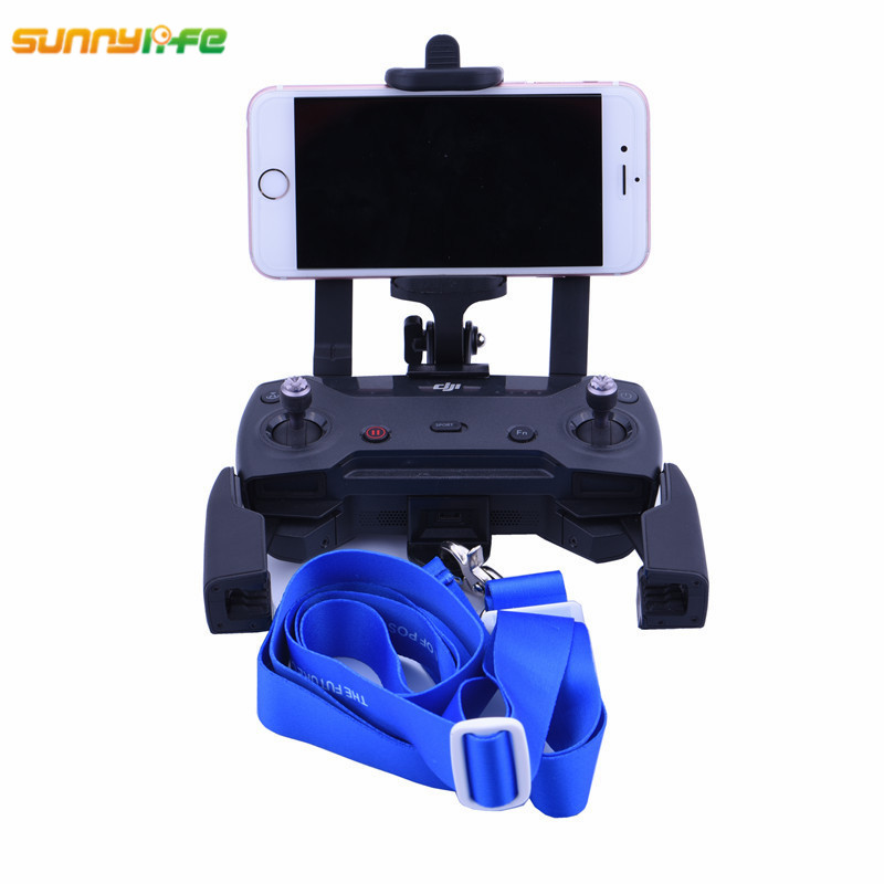 BRDRC DJI Spark Remote Controller Front Monitor Holder Bracket Phone Clip 5 5inch with strap for