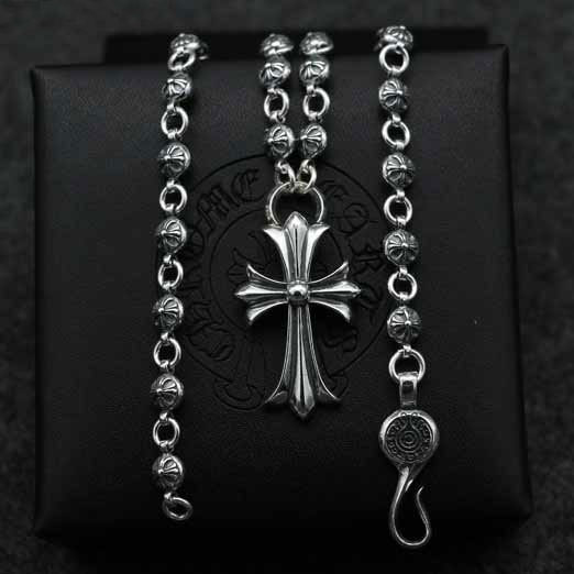 Retro Thai Silver Cross Pendant Fashion Male And Female S925 Sterling Silver Sweater Necklace Vintage Punk Style Accessories цена 2017