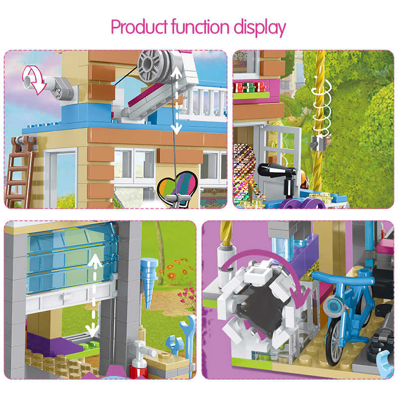 868pcs Building Blocks Girls Friendship House Model Stacking Bricks Girls Friends Figures Kids Toys for Children Gift GB08