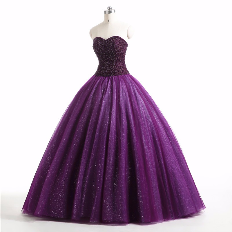 Cecelle 2019 Real Vintage Gothic Purple Ball Gown Colorful