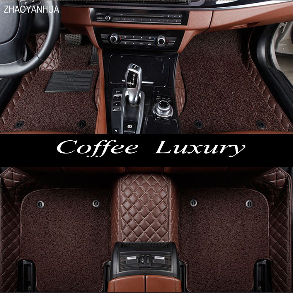 ZHAOYANHUA car floor mats for Volkswagen Beetle Eos Golf Jetta Passat sharan leather Anti slip car styling carpet liner