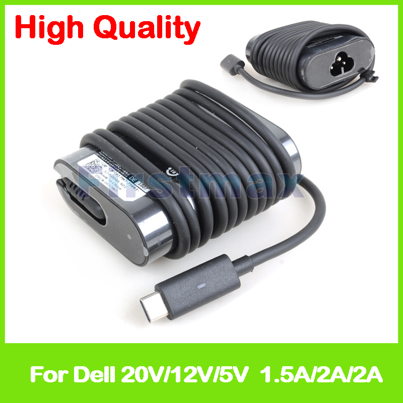 5V 2A 12V 2A 20V 1.5A USB-C type C AC adapter tablet pc charger for Dell Latitude 11 5170 5175 5179 XPS 9365 Venue 8 Pro 5855 wzsm original new dc power jack usb board flex cable for dell venue 11 pro 5130 tablet usb charger board mld db usb tested well